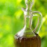 flaske med olje