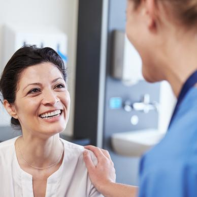 pasient og helsearbeider