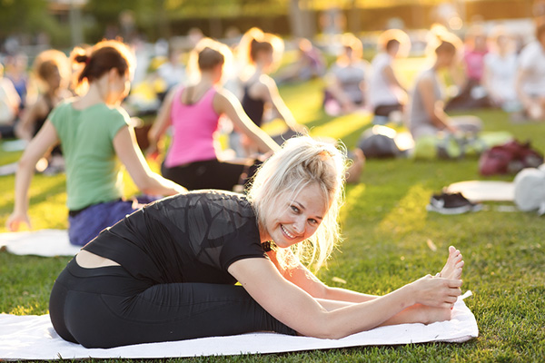 Yoga i park