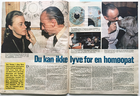 to sider i Norsk ukeblad