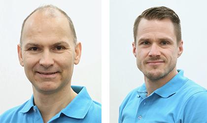 Akupunktørene Vidar Johansen og Martin Fremstad