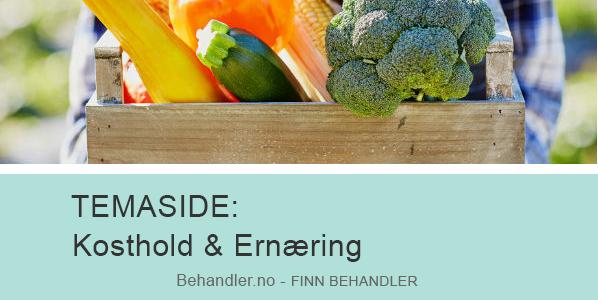 Annonse for temaside på behandler.no om kosthold og ernæring